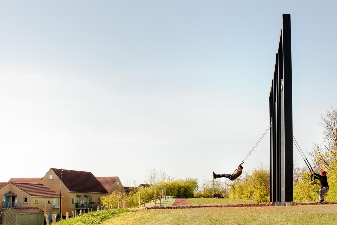 Swings at Kastrup Activity Landscape