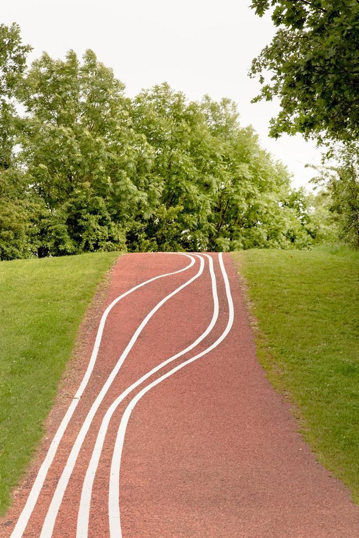 Running paths at Kastrup Activity Landscape