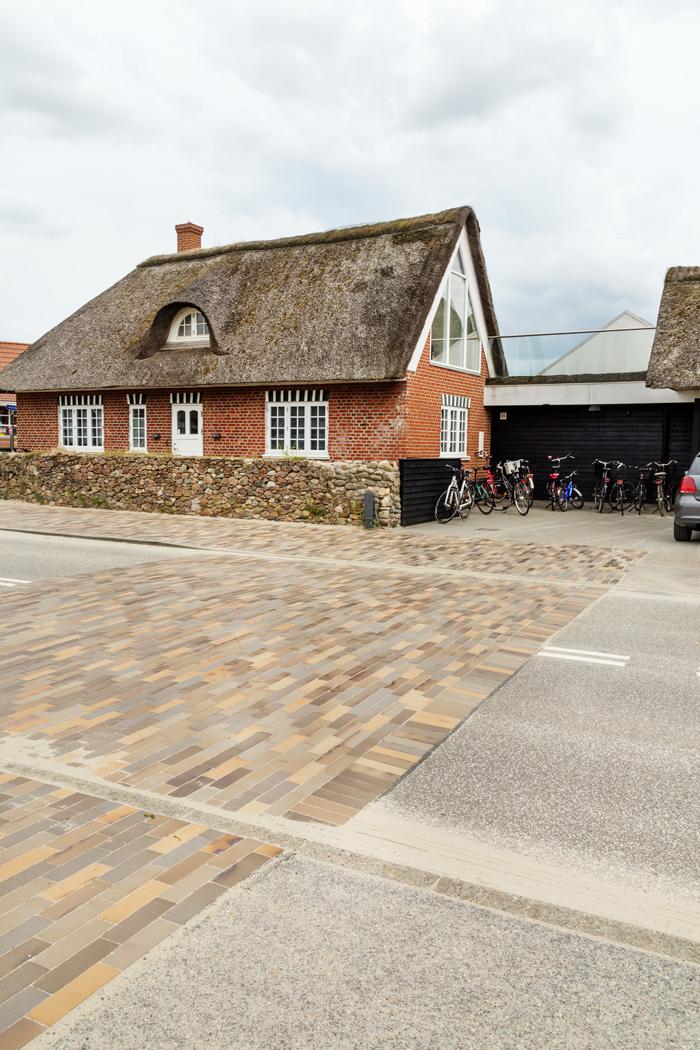 Fanø Bad teglbelægning mursten