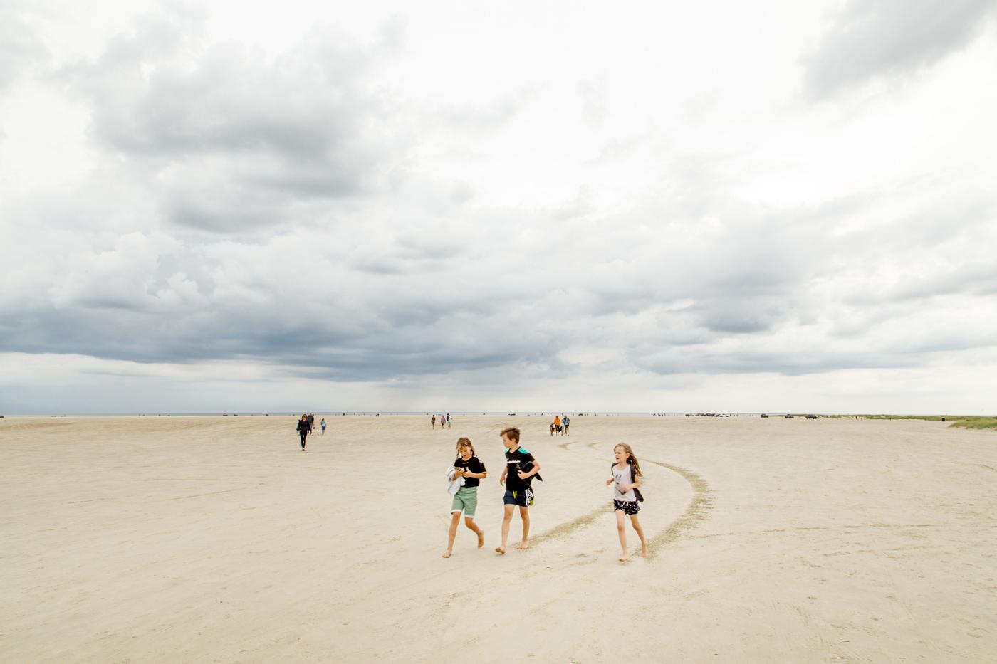 Fanø Bad strand og børn