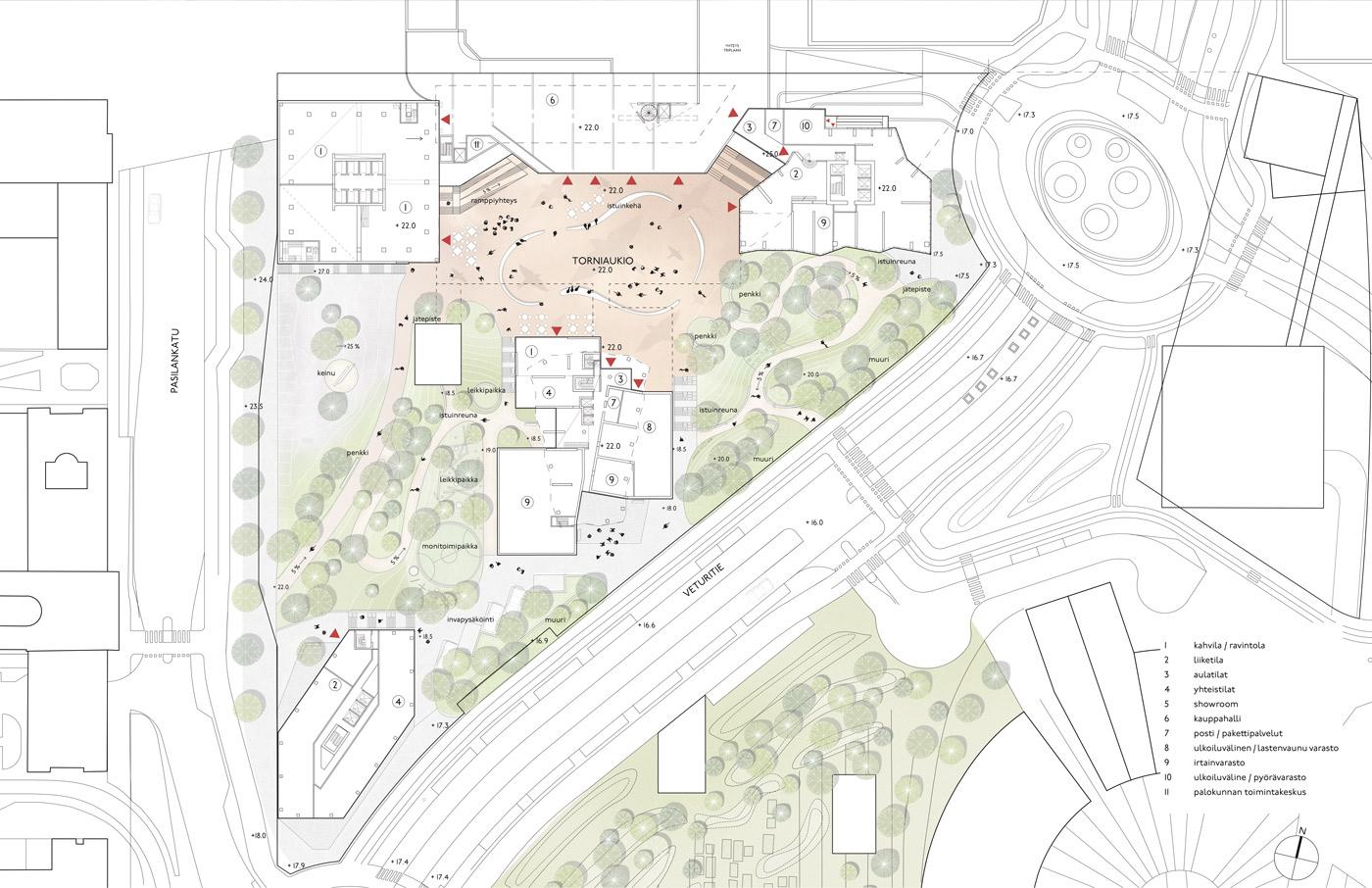 Helsinki highrise Plan drawing