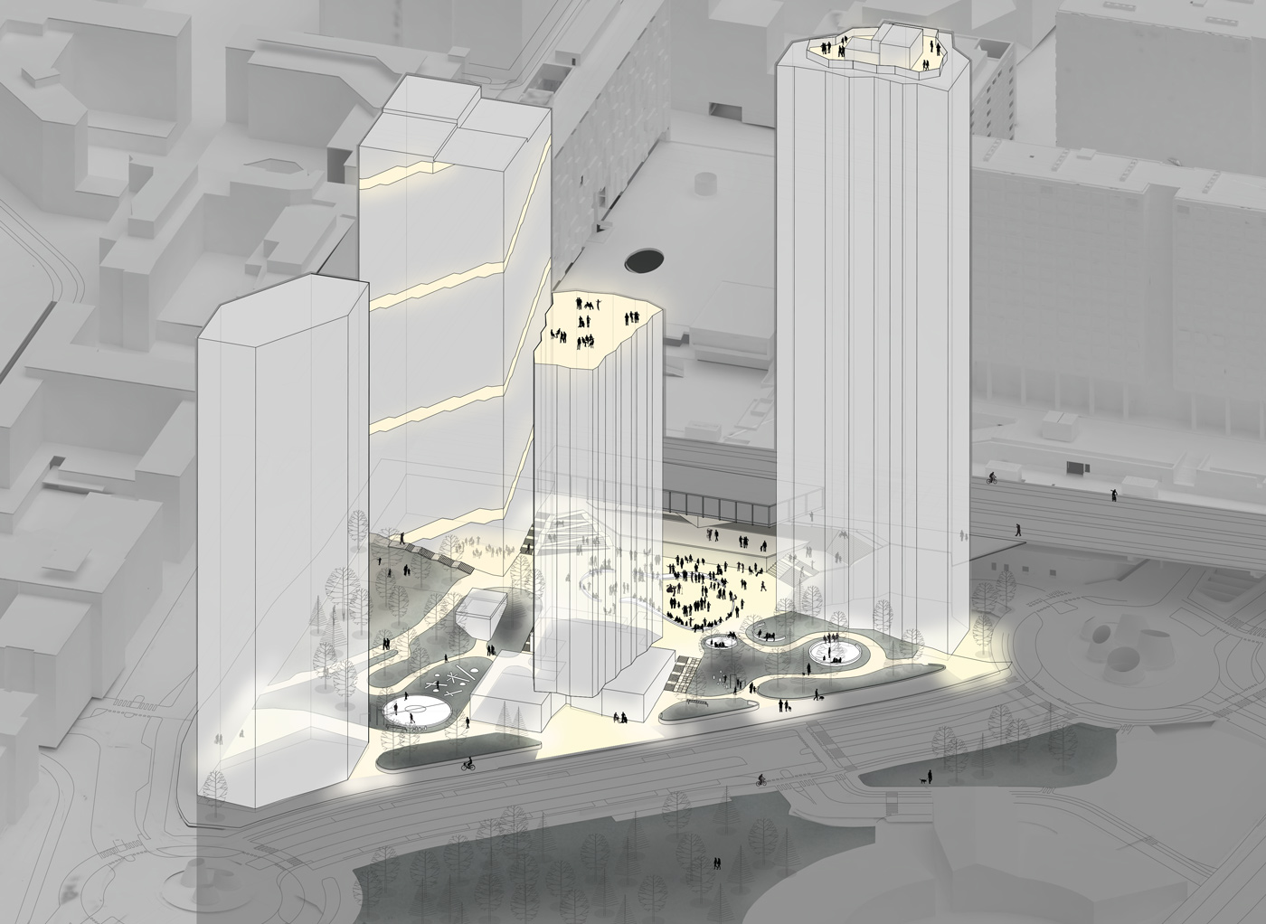 Helsinki highrise area axo